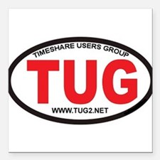 "TUG Oval Logo Square Car Magnet 3"" x 3"""