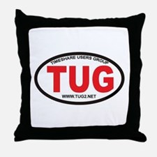 TUG Oval Logo Throw Pillow