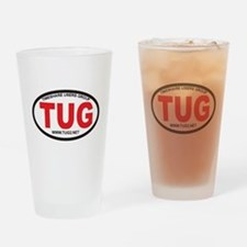 TUG Oval Logo Drinking Glass