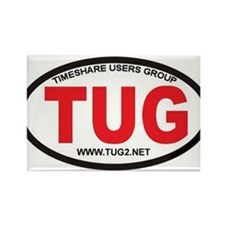 TUG Oval Logo Rectangle Magnet
