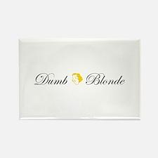 Dumb Blonde Rectangle Magnet (10 pack)
