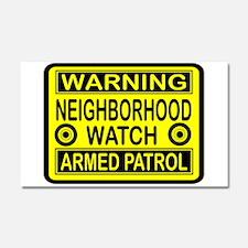 WARNING Car Magnet 20 x 12