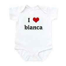 I Love bianca Infant Bodysuit