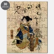 Vintage Japanese Art Woman Puzzle