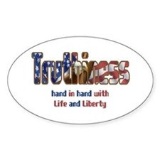 Truthiness Oval Decal