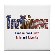Truthiness Tile Coaster