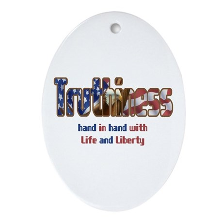 Truthiness Oval Ornament