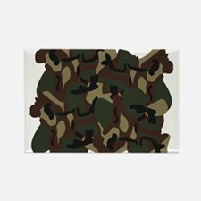 Camo Rectangle Magnet