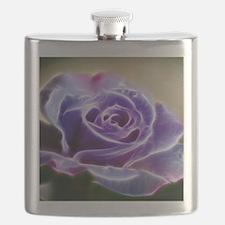Purple Lighted Rose Flask