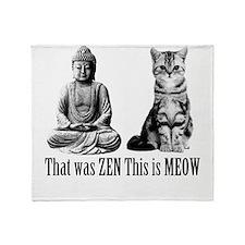 zen cat Throw Blanket