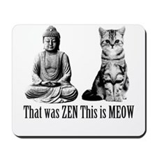 zen cat Mousepad