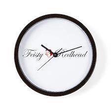 Feisty Redhead Wall Clock