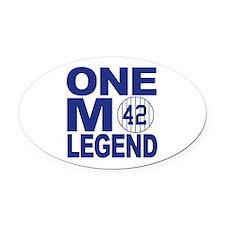 One more legend Oval Car Magnet