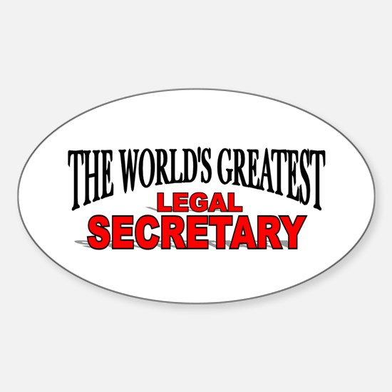 """The World's Greatest Legal Secretary"" Decal"