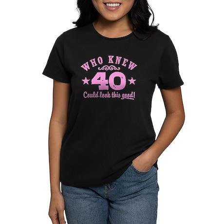 Funny 40th Birthday Women's Dark T-Shirt