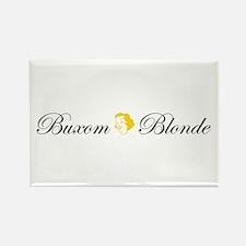 Buxom Blonde Rectangle Magnet