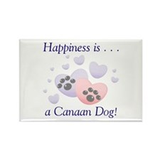 Happiness is...a Canaan Dog Rectangle Magnet (10 p