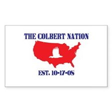 The Colbert Nation Rectangle Decal