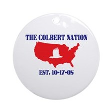 The Colbert Nation Ornament (Round)