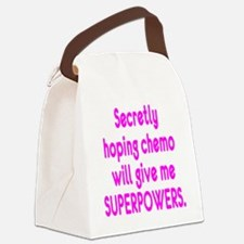 Funny Cancer Chemo Superpowers Pink Canvas Lunch B