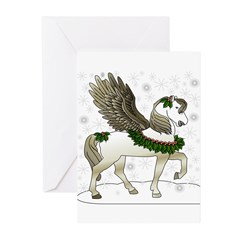 Winter Pegasus Greeting Cards (Pk of 10)
