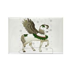 Winter Pegasus Rectangle Magnet (10 pack)