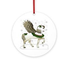 Winter Pegasus Ornament (Round)