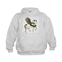 Winter Pegasus Kids Hoodie