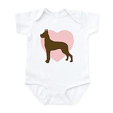 Great Dane Heart Infant Bodysuit