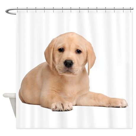 Labrador Retriever Puppy Shower Curtain
