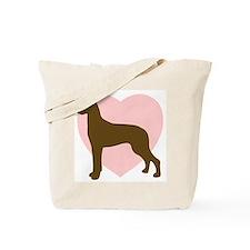 Great Dane Heart Tote Bag