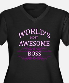 World's Most Awesome Boss Women's Plus Size V-Neck