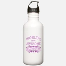 World's Most Awesome Beautician Water Bottle