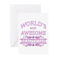 World's Most Awesome Beautician Greeting Card