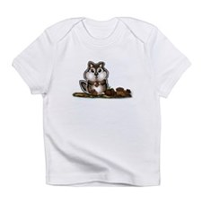 Chipmunk with stash of Acorns (htxt) Infant T-Shir