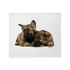 German Shepherd Siblings Throw Blanket