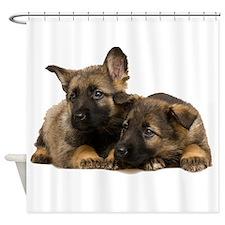 German Shepherd Siblings Shower Curtain