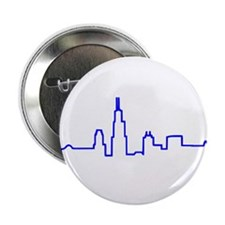 "Chicago Heartbeat BLUE 2.25"" Button"