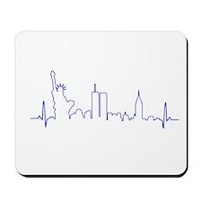 New York Heartbeat BLUE Mousepad