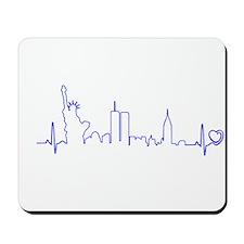 New York Heartbeat (Heart) BLUE Mousepad