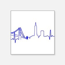 San Francisco Heartbeat BLUE Sticker