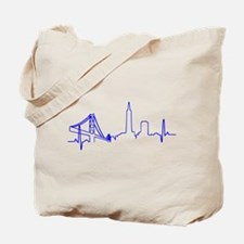 San Francisco Heartbeat BLUE Tote Bag
