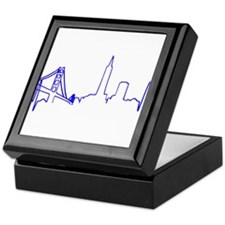 San Francisco Heartbeat BLUE Keepsake Box