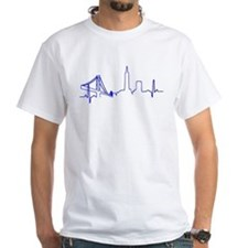 San Francisco Heartbeat BLUE T-Shirt