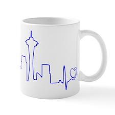 Seattle Heartbeat (Heart) BLUE Mug