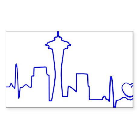 Seattle Heartbeat (Heart) BLUE Sticker