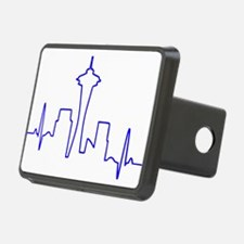 Seattle Heartbeat BLUE Hitch Cover