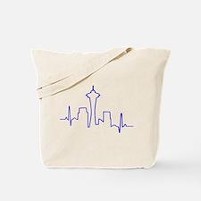 Seattle Heartbeat BLUE Tote Bag