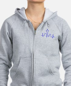 Seattle Heartbeat BLUE Zip Hoodie