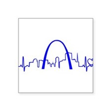 St. Louis Heartbeat (Heart) BLUE Sticker